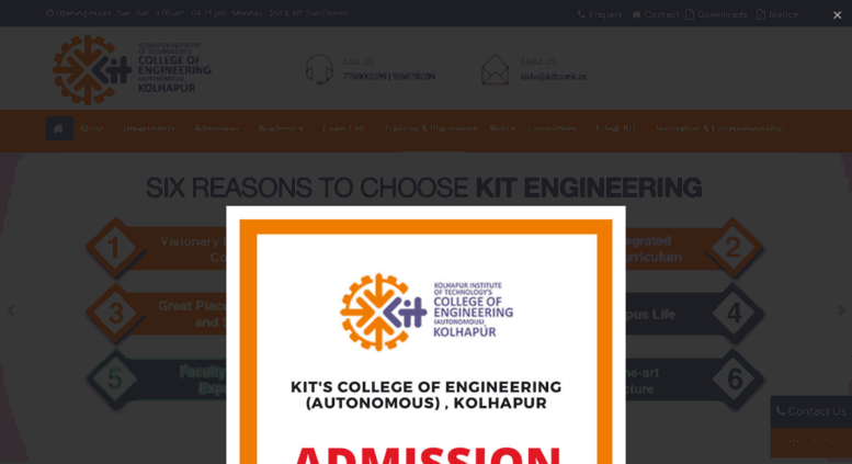 Access kitcoek in  KIT's College of Engineering, Kolhapur