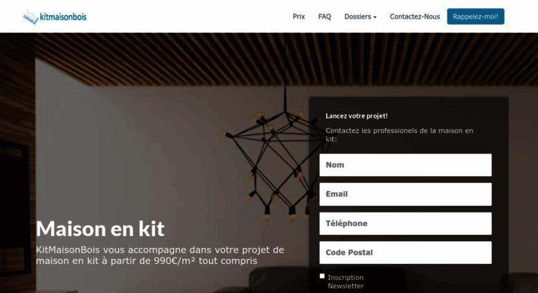 Access kitmaisonbois.com. Kit Maison Bois - Constructeur De ...