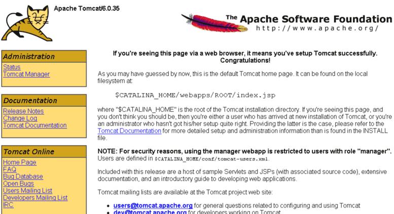 apache tomcat 6.0.35