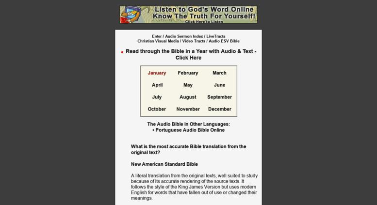 Access kjvmp3 com  King James Version - Listen or Download