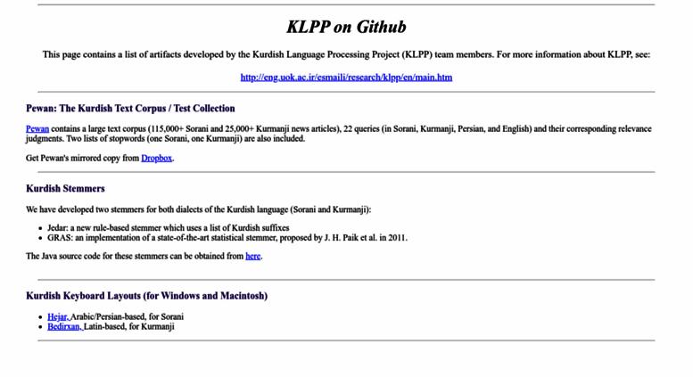 Access klpp github io  KLPP on Github
