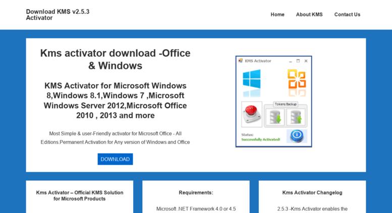 Access kmsactivator com  Kms activator download