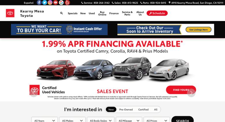 Kearny Mesa Toyota >> Access Kmtoyota Com Toyota New Used Car Dealer Serving Kearny