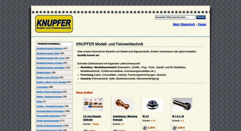 7c94fec67a1c Access knupfershop.de. KNUPFER Modell- und Feinwerktechnik
