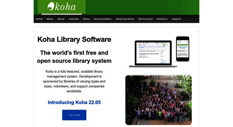 Access koha-community org  Official Website of Koha Library