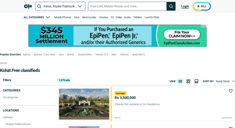 Access kohat olx com pk  OLX - Buy and Sell for free anywhere in