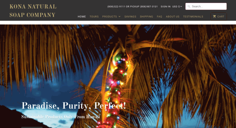 Access konanaturalsoapcompany com  Home-Kona Natural Soap