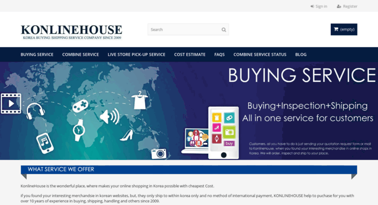Access konlinehouse com  Korean delivery and buying service