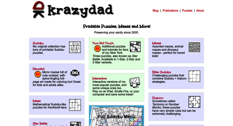 graphic regarding Krazydad Printable Sudoku identify Get to . Printable Puzzles by means of KrazyDad