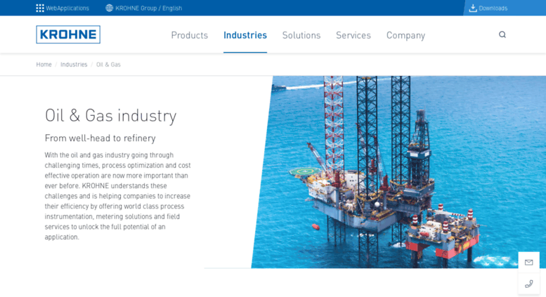 Access krohne-oilandgas com  Oil & Gas Industry   KROHNE Group