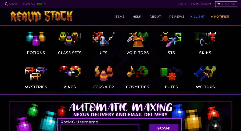Access kronkitems dpdcart com  RealmStock - Cheapest RotMG Shop