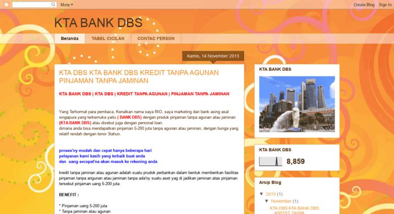 Access Ktadbsrio Blogspot Com Kta Bank Dbs