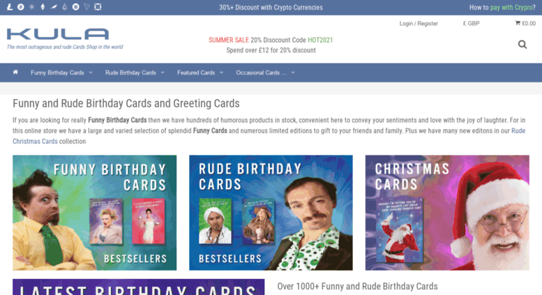 Kulacardscouk Funny Birthday Cards And Rude Christmas