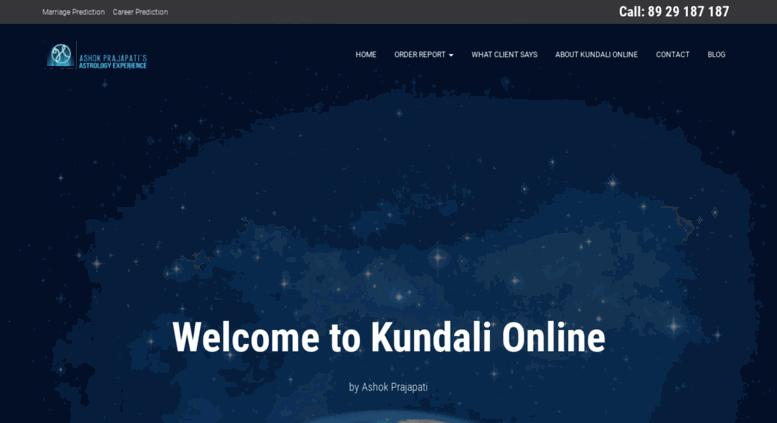 Access kundalionline com  Kundali Reading | Kundali Reading
