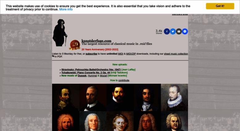 Access kunstderfuge com  kunstderfuge com | Free Classical