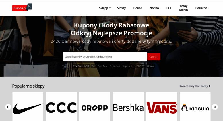 43fbf639ff18c Access kupon.pl. Kupony i Kody Rabatowe   Kupon.pl