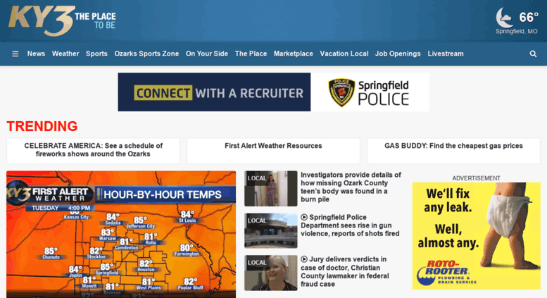 Access ky3 com  KY3 Springfield, Missouri News, Weather, and