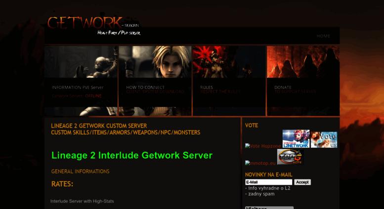 Access l2server cz  Getwork Lineage 2 custom server
