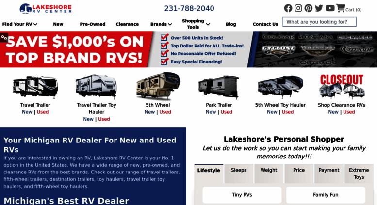 Access lakeshore-rv com  Michigan RV Dealer,Keystone RVs