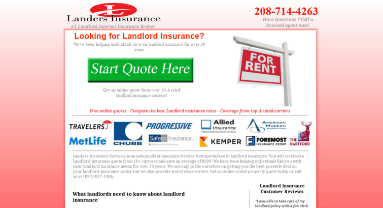 Access Landlordlandersins Landlord Insurance Mesmerizing Landlord Insurance Quote