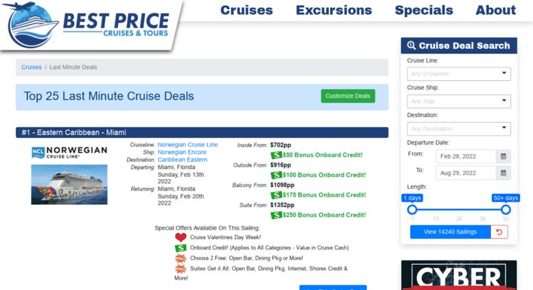 Last Minute Cruise Deals >> Access Lastminutecruisedeals Bestpricecruises Com Last