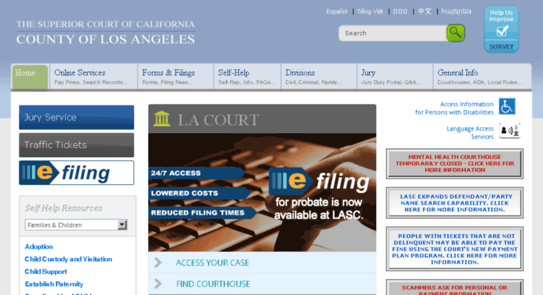 Access Lasuperiorcourt Org La Court Add place (company, shop, etc.) to this building. accessify