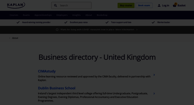 Access law-school kaplan co uk  Business directory | Kaplan UK