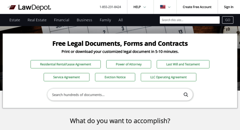 Access Lawdepotca Free Legal Documents Forms Contracts