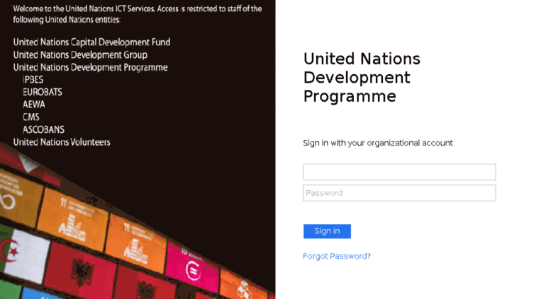 Access learning undp org  Redirect to ADFS Login Page