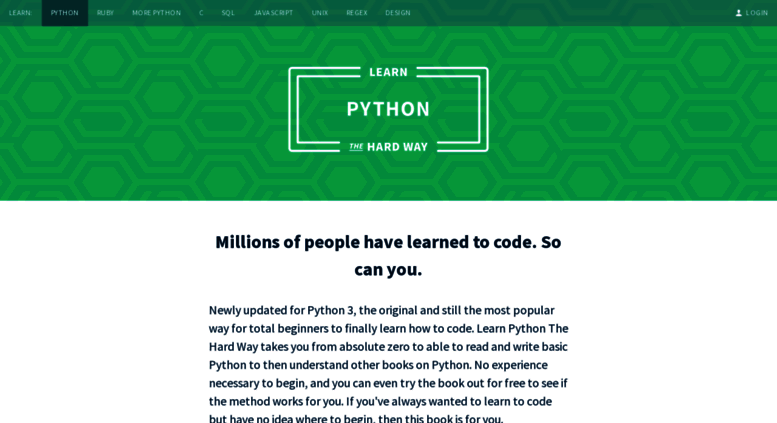 Access learnpythonthehardway org  Learn Python the Hard Way