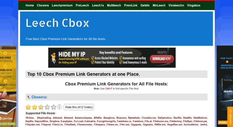 Access leechcbox blogspot com ar  Leech Cbox: Top 10 Cbox Premium