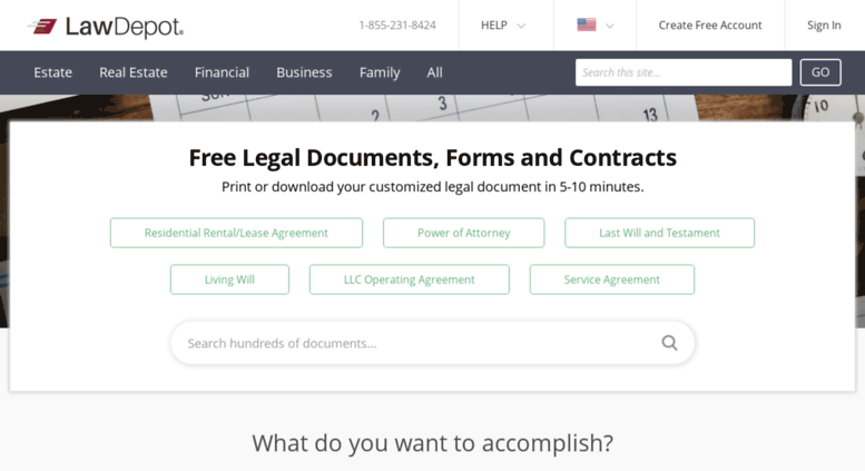 Access Legaldepot Free Legal Documents Forms Contracts