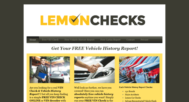 Free Vehicle History Report Online >> Access Lemonchecks Com Free Vehicle History Report Free Vin Check