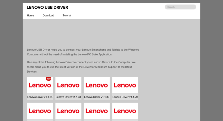 Access lenovousbdriver com  Lenovo USB Driver - Official Driver