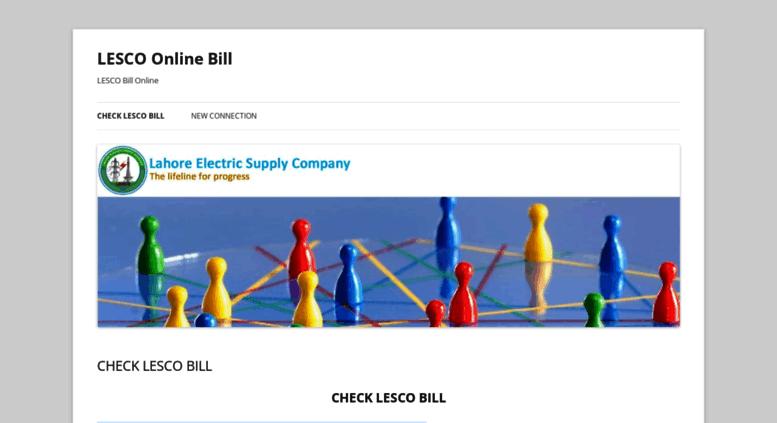 Access lesco com pk  LESCO Online Bill | LESCO Bill Online