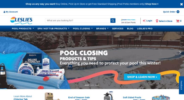 Access lesliespoolsupplies com  Leslie's Pool Supplies