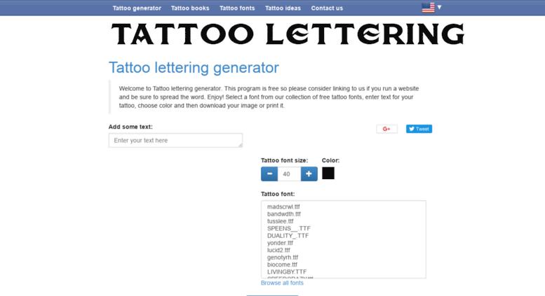 Access Lettering Tattooscom Tattoo Lettering Generator