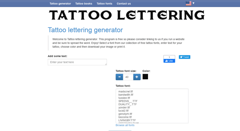 Access Letteringtattoosnet Tattoo Lettering Generator