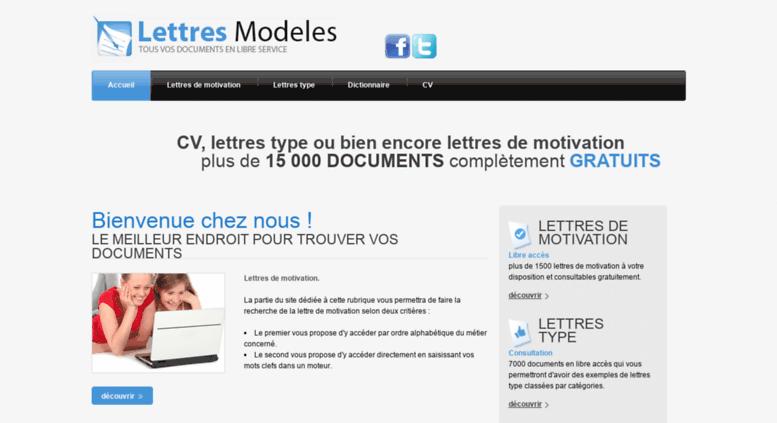 Access Lettres Modeles Fr Modele Et Exemple De Lettre De Motivation Bienvenue Sur Lettre Modeles Fr