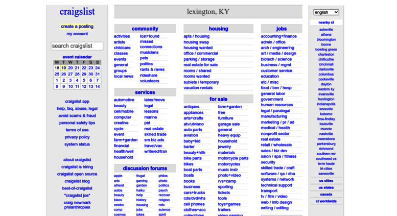Access lexington craigslist org  craigslist: lexington, KY jobs