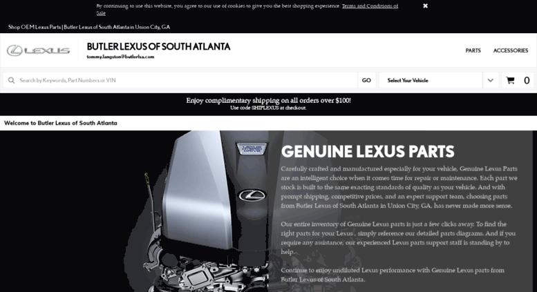 Lexus Of South Atlanta >> Access Lexussouthatlantaparts Com Genuine Lexus Parts Butler
