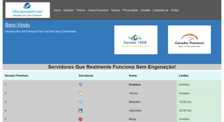 Access liberapremium com  Liberapremium - Gerador de Links Premium