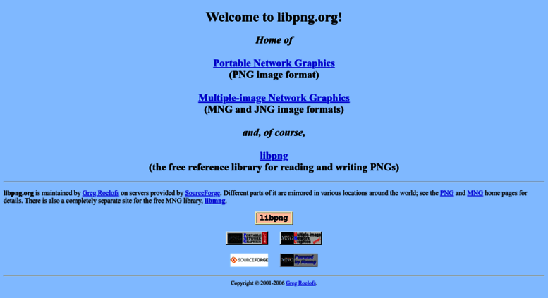 Access libpng org  libpng org: top level