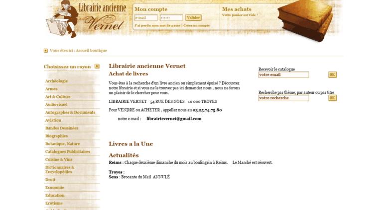 Access Librairievernet Com Librairie Vente De Livres D