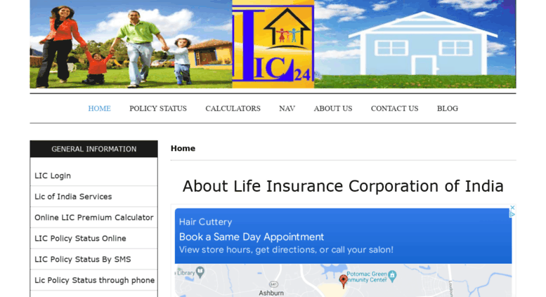 Access lic24.in. Life Insurance Corporation of India ...