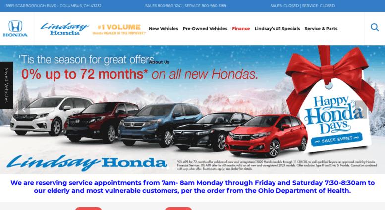 Honda Dealership Columbus Ohio >> Access Lindsayhonda Com Lindsay Honda Honda Dealer In