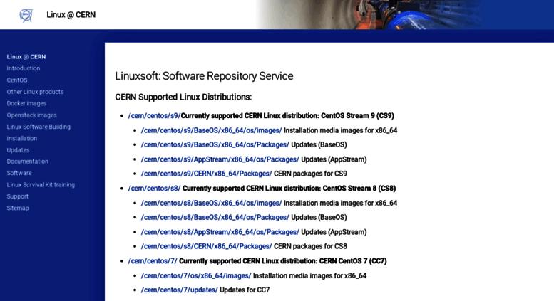 Access linuxsoft cern ch  Linux @ CERN: /index html
