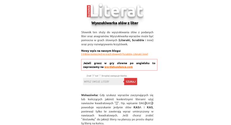 Access Literat Programpl Ułóż Słowa Z Liter Darmowa Wyszukiwarka