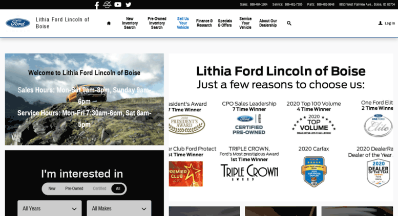 Lithia Ford Boise >> Access Lithiafordboise Com New Used Ford Dealership In