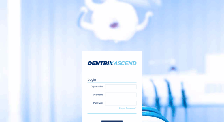 Access live.dentrixascend.com.au. Dentrix Ascend - Login